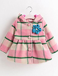 Girl Casual/Daily Plaid Down & Cotton Padded,Cotton / Blended Cotton Winter / Spring / Fall Long Sleeve