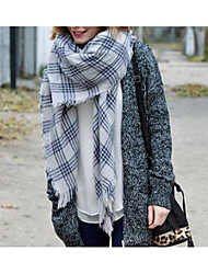 Women Faux Fur Scarf,Casual SquareStriped