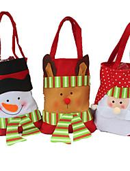 3шт творческий подарок бытовой полезности стерео рождества снеговика конфеты мешок подарка рождества мешок подарка рождества мешок