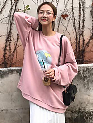 Sign Korea orders printed pink elephant loose round neck sweater