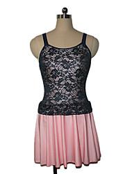 Latin Dance Dresses Women's / Children's Performance Nylon / Lace / Lycra Lace 1 Piece Sleeveless Dress