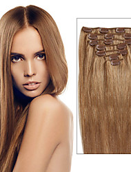 Brazilian Virgin Hair Clip In Extension Multiple Color Straight Brazilian Clip In Hair Extensions Straight Human Hair