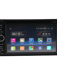 Quad Core Android 5.1.1  Universal Car Radio HD 1024*600 Resolution 6.2'' GPS Navigation/wifi/FM/BT