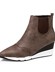 Women's Boots Comfort Leatherette Casual Brown / Gray