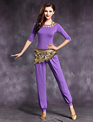 Belly Dance Outfits Women's Performance Modal Draped 2 Pieces Half Sleeve Natural Top / Pant