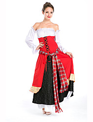 Court Costume Festival/Holiday Costumes Dress / Belt / Sleeves Female Polyester