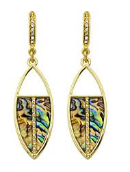 Ethnic Style Colorful Rhinestone Drop Earrings Women