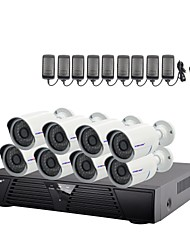 Strongshine®IP Camera with 1080P/Infrared/Waterproof and 8CH  H.264 NVR  Combo Kits