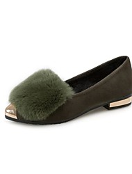 Women's Loafers & Slip-Ons Spring Fall Winter Comfort Fleece Outdoor Dress Casual Black Green Gray