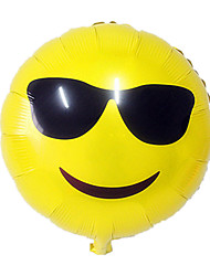 Balões Decoração Para Festas Circular alumínio Amarelo Para Meninos / Para Meninas 5 a 7 Anos