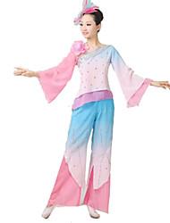 Ropa de Fiesta Cosplay Festival/Celebración Traje de Halloween Rosado / Verde Un Color Top / Pantalones / Para la Cabeza Mujer