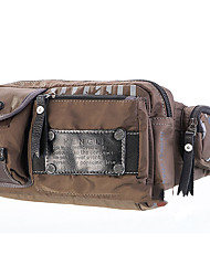 Men Waist Bag Canvas Casual Army Green