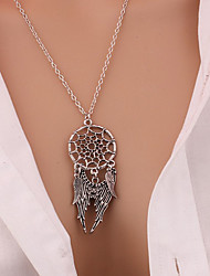 collares Vintage Dream Catcher Leaves collier Pendant Necklace kettingen Silver Color Girl Bib Chokers Pendants & Necklaces