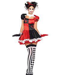 Costumes de Cosplay Animal Fête / Célébration Déguisement Halloween Rouge / Noir Mosaïque Robe / Plus d'accessoires Noël Féminin Térylène