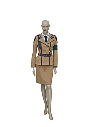 Cosplay Costumes Festival/Holiday Halloween Costumes Brown Solid Top / Skirt / Belt / More Accessories Unisex Nylon