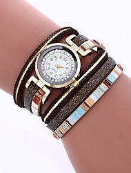 New Brand Dress Watch Womens Luxury Quartz Bracelet Crystal Rivet Braided Ladies Watches Hot Sale
