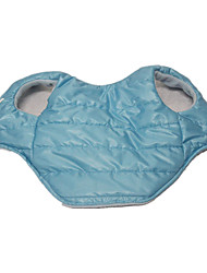 Dog Coat / Jacket / Vest Blue Dog Clothes Winter / Spring/Fall Solid Casual/Daily / Keep Warm