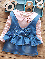 Girl Casual/Daily / Sports Polka Dot Sets,Cotton Winter / Fall Long Sleeve Clothing Set