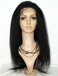 dentelle de cheveux humains devant perruques brazilian crépus droites italian cheveux yaki huaman pleines perruques de