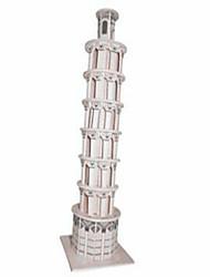 Quebra-cabeças Quebra-Cabeças de Madeira Blocos de construção DIY Brinquedos Cisne / Castelo / Construções Famosas 1 Madeira IvoryModelo