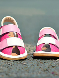 Kids' Boys' Sandals Spring Summer Fall Comfort First Walkers Leather Cowhide Outdoor Casual Flat Heel Magic Tape Fuchsia Blue