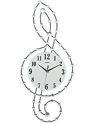 Moderno/Contemporáneo Casas Reloj de pared,Otros Acrílico / Vidrio / Metal 30*75CM Interior Reloj