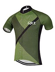 Esportivo Camisa para Ciclismo Homens Manga Curta MotoRespirável / Secagem Rápida / Design Anatômico / Zíper Frontal / Bolso Traseiro /