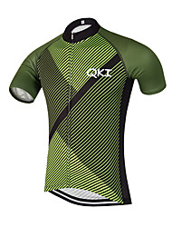 QKI Sarja Verde Pro Cycling Jersey Men's Short Sleeve Bike Breathable / Quick Dry / Anatomic Design / Front Zipper / Reflective Strips