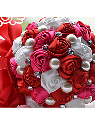 """Wedding Flowers Round Roses Bouquets Party/ Evening Satin 19.7""""(Approx.50cm)"""
