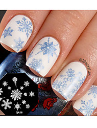 Nail Art Stamp Stamping Template Plate Cute Snowflake Nail Tool Design