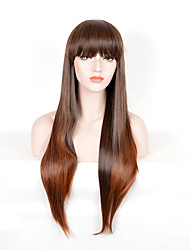 Fashion Women Brown Color Synthetic Wigs Long Straight Wigs