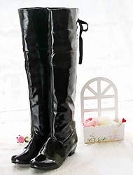 Women's Boots Spring Fall Winter Novelty Comfort Patent Leather Leatherette Wedding Office & Career Dress Casual Party & Evening Low Heel