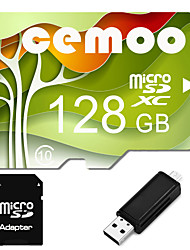 CEMOO Original Nature Series 128GB Micro SD card Class 10  with SD SDHC Adapter and Multi-function OTG USB Card Reader