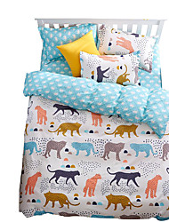 Mingjie Wonderful Jungle Cheetah Bedding Sets 4PCS for Twin Full Queen King Size from China Contian 1 Duvet Cover 1 Flatsheet 2 Pillowcases