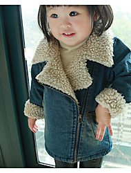 Girl Casual/Daily Solid Down & Cotton Padded,Cotton Winter / Fall