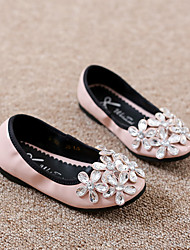 Girl's Flats Spring / Fall Others / Comfort PU Dress / Casual Flat Heel Sparkling Glitter / Flower Black / Pink Others