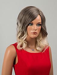 beleza sexy de comprimento médio capless perucas onda natural, perucas de cabelo humano ombre