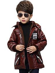 Boy Casual/Daily Solid Jacket & Coat,PU Winter Long Sleeve