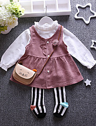 Girl Casual/Daily / Sports Solid Sets,Cotton Winter / Fall Long Sleeve Clothing Set