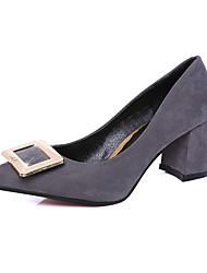 Women's Heels Spring Fall Comfort PU Casual Low Heel Black Red Gray Other
