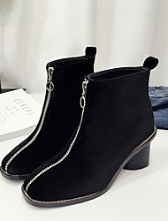 Women's Boots Fall Others Suede Casual Black Gray Royal Blue