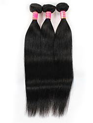 Lidské vlasy Vazby Brazilské vlasy Proste 6 měsíců 3 kusy Vazby na vlasy