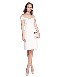 TS Couture® Cocktail Party Dress - Celebrity Style Sheath / Column Off-the-shoulder Knee-length Jersey with