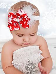 Bebê do Natal headband da flor pena neve arco meninas hairband bebê da criança headwear alegres acessórios para o cabelo natal