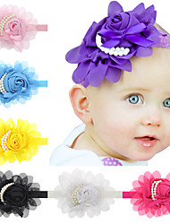13Pcs/set Baby Girls Chiffon Pearl Flower Headband Todder Hair Accessories Infant Hairband