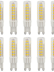 4W G9 LED à Double Broches T 75 SMD 2835 420-440 lm Blanc Chaud / Blanc Froid Etanches AC110 / AC220 V 10 pièces