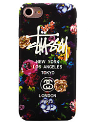 Para iPhone 8 iPhone 8 Plus iPhone 7 iPhone 7 Plus iPhone 6 Case Tampa Brilha no Escuro Estampada Capa Traseira Capinha Flor Rígida PC