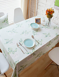 Rectangular Patterned Table Cloth , Cotton Blend Material Hotel Dining Table Table Decoration