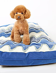 Dog Bed Pet Blankets Blue Cotton