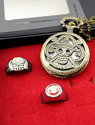 Relógio / Mais Acessórios Inspirado por One Piece Ace Anime Acessórios de Cosplay Relógio / Anel Dourado Liga